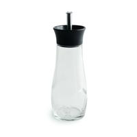 Weber 17554 Öl-/Essig-Spender 0,25 l Flasche Glas, Kunststoff, Edelstahl Schwarz, Transparent (Schwarz, Transparent)