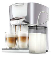 Senseo Kaffeepadmaschine HD6574/20 (Perleffekt, Silber)
