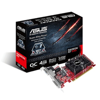 ASUS R7240-OC-4GD3-L AMD Radeon R7 240 4GB (Schwarz, Rot)