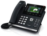 Yealink SIP-T46GN LED Wired handset Schwarz IP-Telefon (Schwarz)