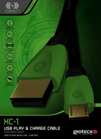 Gioteck XC1XB1-11-MU USB Kabel (Schwarz)