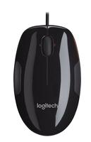 Logitech M150 USB Laser Ambidextrös Schwarz Maus (Schwarz, Orange)