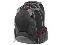 """HP 17.3"""" Backpack (Schwarz, Grau, Rot)"""
