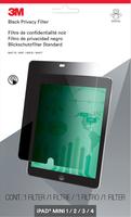 3M Blickschutzfilter für iPad Mini 1/2/3/4 - Hochformat (Schwarz, Durchscheinend)