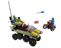Lego Marvel Super Heroes 76017 - Captain America vs. Hydra (Mehrfarbig)
