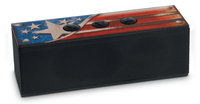 Bigben Interactive BT01USA Mono 3W Rechteck Schwarz, Blau, Rot, Weiß Tragbarer Lautsprecher (Schwarz, Blau, Rot, Weiß)