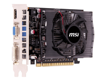MSI N730-4GD3 GPU Grafikprozessorenfamilie GeForce GT 730 - 4GB (Schwarz, Grau)