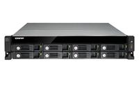 QNAP UX-800U-RP HDD enclosure 2.5/3.5Zoll Schwarz Speichergehäuse (Schwarz)