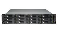 QNAP UX-1200U-RP HDD enclosure 2.5/3.5Zoll Schwarz Speichergehäuse (Schwarz)