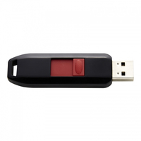 Intenso 64GB USB2.0 64GB USB 2.0 Schwarz, Rot USB-Stick (Schwarz, Rot)