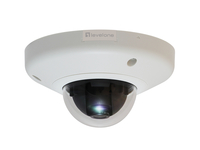 LevelOne Fixed Dome Network Camera, 3-Megapixel, PoE 802.3af (Schwarz, Weiß)
