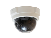 LevelOne Fixed Dome Network Camera, 3-Megapixel, PoE 802.3af, Day & Night, IR LEDs (Schwarz, Weiß)