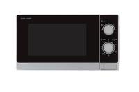 Sharp Home Appliances R-200INW Arbeitsfläche Solo-Mikrowelle 20l 800W Metallisch, Silber Mikrowelle (Metallisch, Silber)