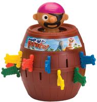 Tomy Pop Up Pirate Kinder Geschicklichkeitsspiel zur Feinmotorik (Braun)