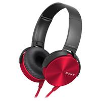 Sony MDR-XB450AP (Schwarz, Rot)