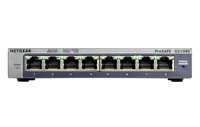 Netgear GS108E Gigabit Ethernet (10/100/1000) Schwarz (Schwarz)