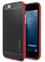 Spigen SGP11032 Handy-Schutzhülle (Schwarz, Rot)