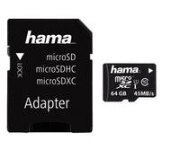 Hama microSDXC 64GB 64GB SDXC UHS Class 10 Speicherkarte (Schwarz)