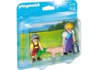 Playmobil 5514 - Duo Pack Bäuerin und Junge (Mehrfarbig)