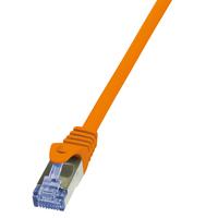 LogiLink 0.25m Cat.6A 10G S/FTP (Orange)