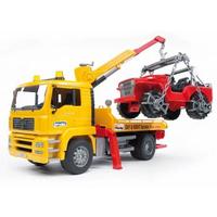 BRUDER MAN TGA Breakdown truck with cross country vehicle (Mehrfarbig)