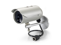 LevelOne Fixed Network Camera, 3-Megapixel, Outdoor, PoE 802.3af, Day & Night, IR LEDs (Silber)