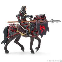SCHLEICH Drachenritter zu Pferd mit Lanze (Braun, Grau)
