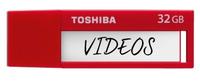 Toshiba TransMemory 32GB 32GB USB 3.0 Rot USB-Stick (Rot)