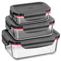 Silit 0022 6327 11 Rechteckig Brotdose Schwarz Lebensmittelaufbewahrungsbehälter (Schwarz, Transparent)