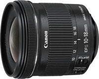 Canon EF-S 10-18mm f/4.5-5.6 IS STM + EW-73C + Lens Cloth (Schwarz)