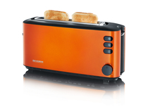 Severin AT 9735 Toaster (Metallisch, Orange)