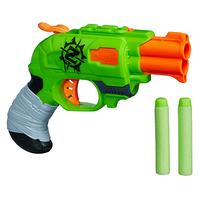 Nerf Zombie Strike Doublestrike Blaster (Grün, Grau, Orange)