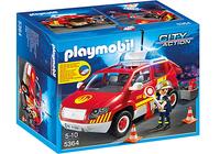 Playmobil 5364 - Brandmeisterfahrzeug mit Licht und Sound (Mehrfarbig)