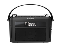 Thomson RT240 Tragbar Analog Schwarz Radio (Schwarz)
