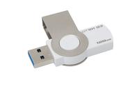 Kingston Technology DataTraveler 101 G3 128GB 128GB USB 3.0 Metallisch, Weiß USB-Stick (Metallisch, Weiß)