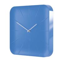 Sigel Inu Quartz wall clock Quadratisch Weiß, Blau (Weiß, Blau)