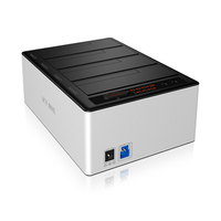 ICY BOX IB-141CL-U3 HDD/SSD Dockingstation (Aluminium, Schwarz)