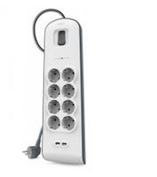 Belkin BSV804VF2M Überspannungsschutz (Weiß)