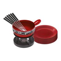 KUHN RIKON 32047 Fondue/Gourmet/Wok (Schwarz, Rot)