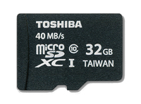 Toshiba MicroSDXC 32GB Class 10 (Schwarz)