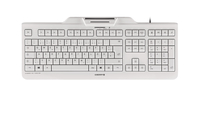 CHERRY KC 1000 SC USB QWERTZ Deutsch Grau (Grau)