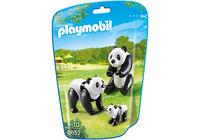 PLAYMOBIL 2 Pandas mit Baby 6652 (Schwarz, Weiß)