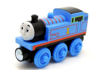 Mattel Wooden Railway Thomas (Schwarz, Blau)