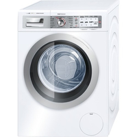 Bosch WAY32843 Freistehend Frontlader 8kg 1600RPM A+++ Schwarz, Grau, Silber Waschmaschine (Schwarz, Grau, Silber)
