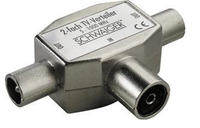 Schwaiger ASV42 531 Kabelspalter oder -kombinator Kabelsplitter Silber (Silber)