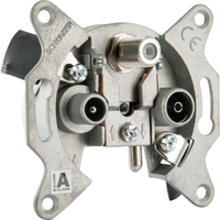 Schwaiger RDS660 531 Steckdose R/TV+SAT Metallisch (Metallisch)