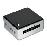 Intel BLKNUC5I3MYHE PC/Workstation Barebone Gehäuse (Schwarz, Silber)