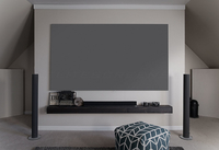 "Elite Screens ""Aeon Edge Free AR120WH2"" Rahmenleinwand kein sichtbarer Rahmen 265,9cm x 149,1cm (BxH) 16:9 (Grau)"