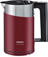 Siemens TW86104P Wasserkocher (Schwarz, Rot, Edelstahl)