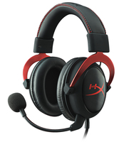 Kingston Technology HyperX Cloud II Gaming Headset - Red (Schwarz, Rot)